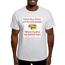 School Bus Driver Ash Grey T-Shirt
