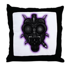 Unhinged Sanity Gas Mask Throw Pillow