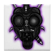 Unhinged Sanity Gas Mask Tile Coaster