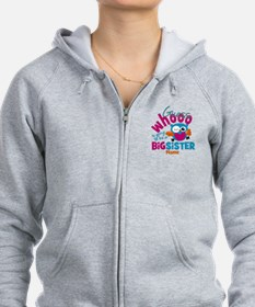 Personalized Big Sister - Owl Zip Hoody