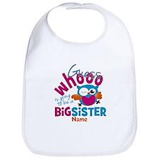 Personalized Big Sister - Owl Bib