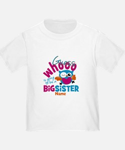 Personalized Big Sister - Owl T-Shirt