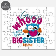 Personalized Big Sister - Owl Puzzle