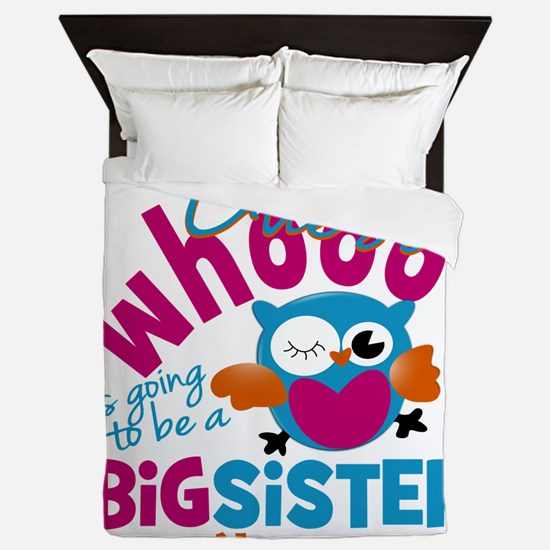 Personalized Big Sister - Owl Queen Duvet