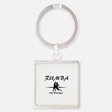 Rumba my therapy Square Keychain