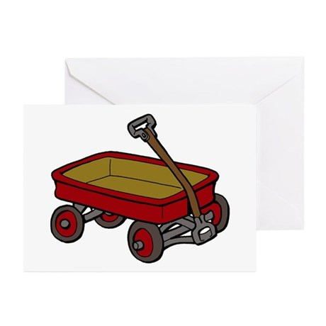 Red Wagon Greeting Cards (Pk of 10)