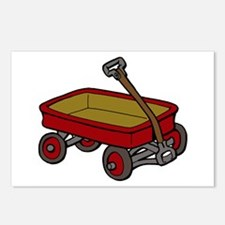 Red Wagon Postcards (Package of 8)