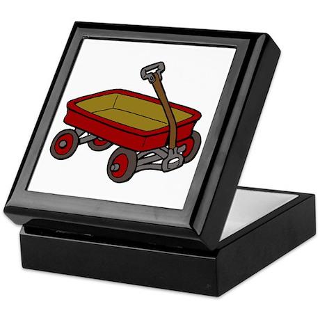Red Wagon Keepsake Box