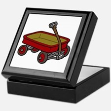 Red Wagon Keepsake Box