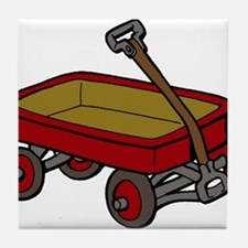 Red Wagon Tile Coaster