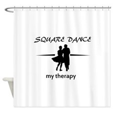 Square my therapy Shower Curtain