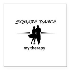 "Square my therapy Square Car Magnet 3"" x 3"""