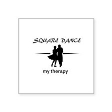 "Square my therapy Square Sticker 3"" x 3"""