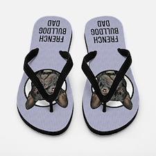 French Bulldog Dad Flip Flops