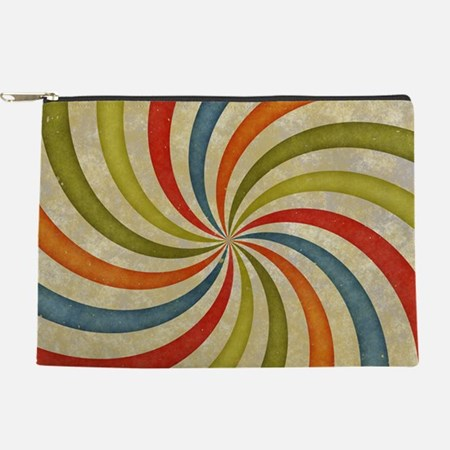 Psychedelic Retro Swirl Makeup Bag