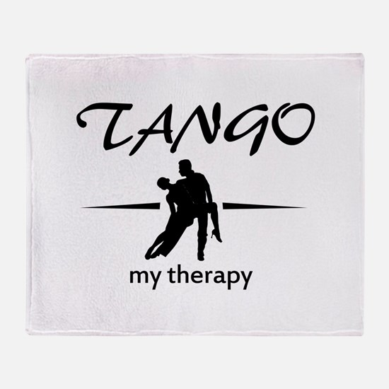 Tango my therapy Throw Blanket