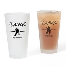 Tango my therapy Drinking Glass