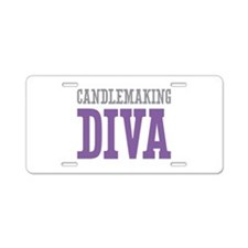 Candlemaking DIVA Aluminum License Plate