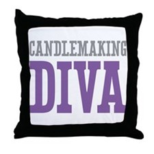 Candlemaking DIVA Throw Pillow