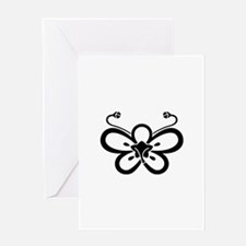 Backside-view butterfly-shaped ume Greeting Card