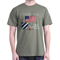 My Husband Proudly Serves in the 3ID T-Shirt