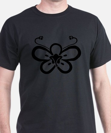 Backside-view butterfly-shaped ume T-Shirt