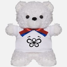 Backside-view butterfly-shaped ume Teddy Bear