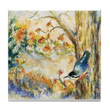 Nuthatch View Tile Coaster