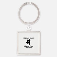 Square my superpower Square Keychain
