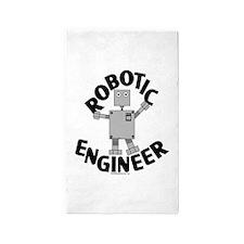 Robotic Engineer 3'x5' Area Rug