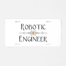 Robotic Engineer Line Aluminum License Plate