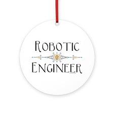 Robotic Engineer Line Ornament (Round)