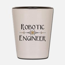 Robotic Engineer Line Shot Glass