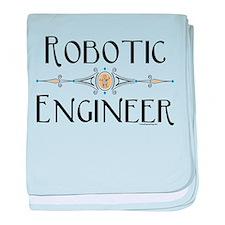 Robotic Engineer Line baby blanket
