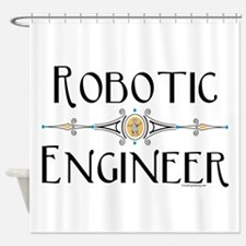 Robotic Engineer Line Shower Curtain