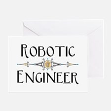 Robotic Engineer Line Greeting Card