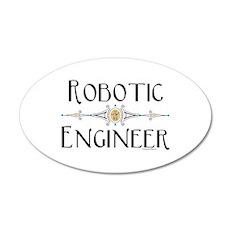 Robotic Engineer Line Wall Sticker