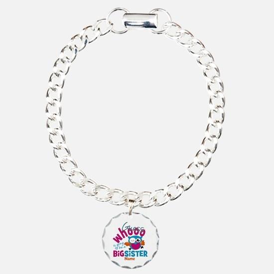 Personalized Big Sister - Owl Bracelet
