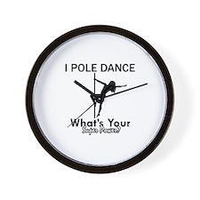 Poledance my superpower Wall Clock