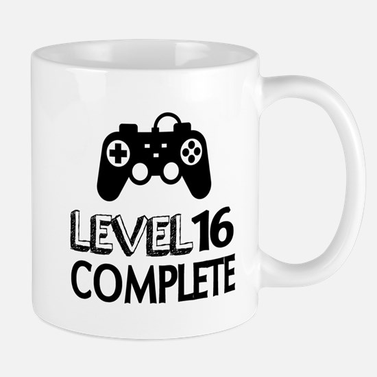 Level 16 Complete Birthday Desig Small Mug