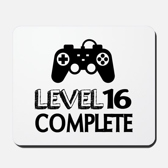 Level 16 Complete Birthday Designs Mousepad