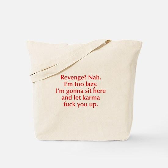 revenge-nah-opt-red Tote Bag