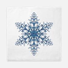 Blue Snowflake Queen Duvet