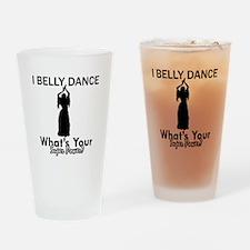 Bellydance my superpower Drinking Glass