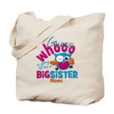 Personalized Big Sister - Owl Tote Bag