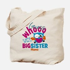 Personalized Big Sister - Owl Tote Bag