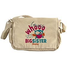 Personalized Big Sister - Owl Messenger Bag