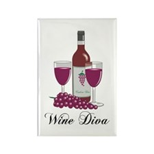 Wine Diva Rectangle Magnet