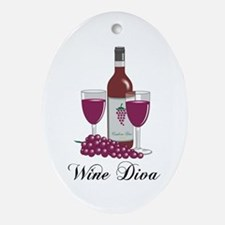 Wine Diva Oval Ornament