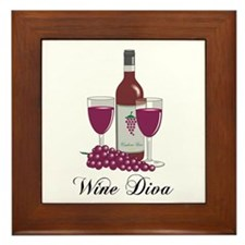 Wine Diva Framed Tile